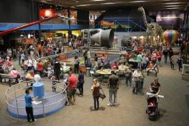 The Science Museum Oklahoma floor is busy with exploration during the 2017 Tinkerfest. [PHOTO PROVIDED]